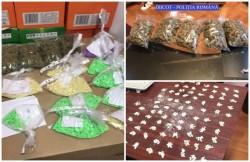 Captură impresionantă de droguri şi patru tineri arestaţi, în urma unei acţiuni a poliţiştilor arădeni