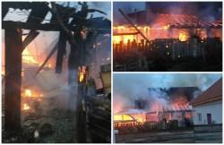 Incendiu devastator la Pecica! O locuinţă în care funcţiona un BAR şi mai multe anexe au fost cuprinse de flăcări