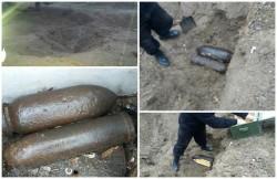 O bombă de 50 kg şi un proiectil exploziv, vândute la fier vechi