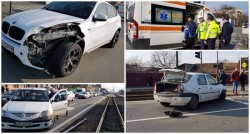 Accident pe Calea Timişorii! Două autoturisme implicate şi o victimă transportată la spital!