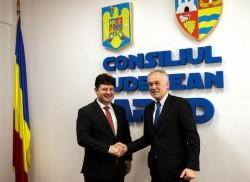 Iustin Cionca i-a cerut consulului Germaniei intervenția pentru Aeroportul Arad