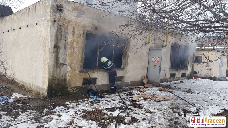 INCENDIU puternic la o magistrală de gaz din Arad