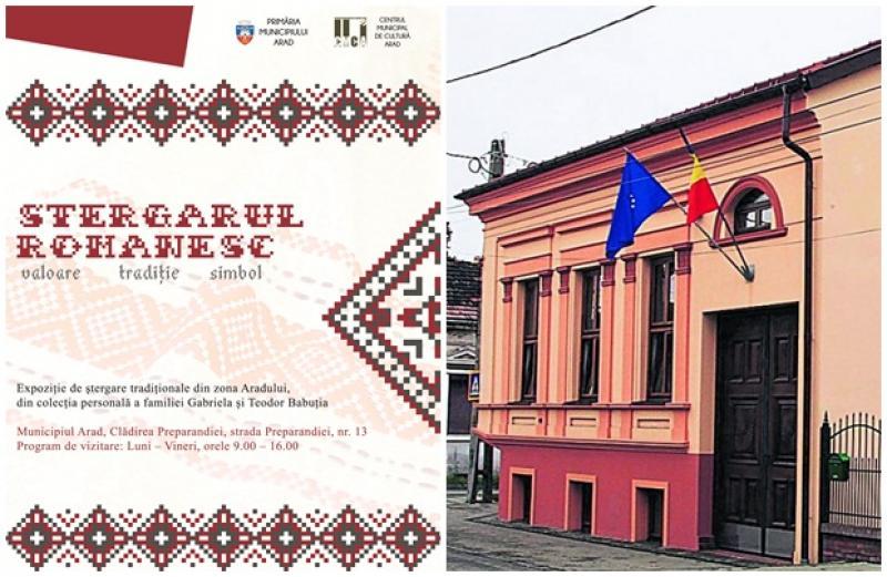 Expoziţie de ştergare tradiționale din zona Aradului, în Clădirea Preparandiei