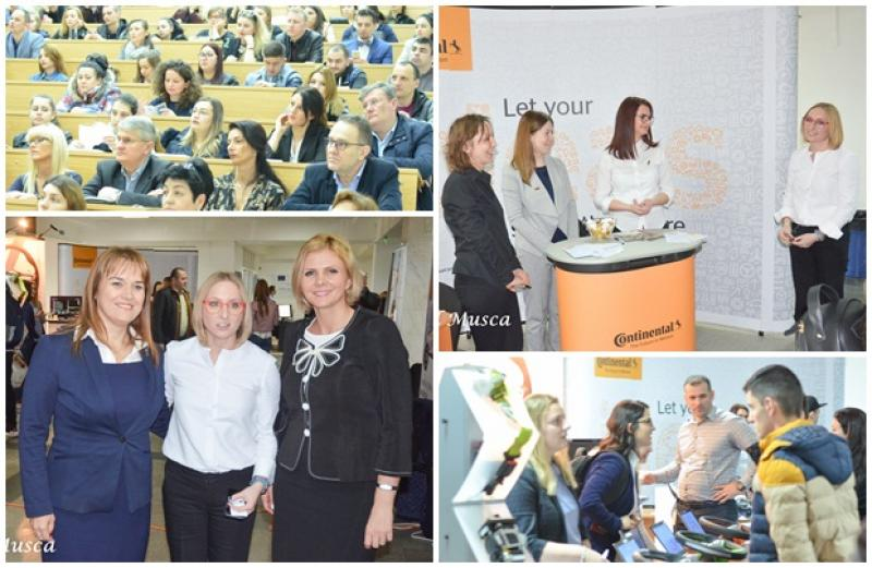 """Gabriela Szabo,  prezentă la """"Bursa"""" Universitatatii Aurel Vlaicu din Arad"""