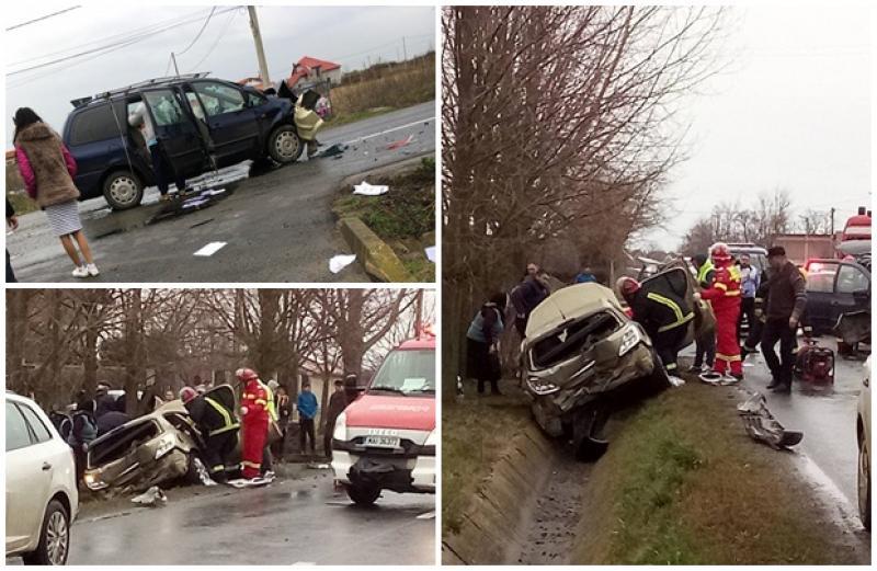 Două victime transportate la spital, în urma unui accident produs pe DJ 628, în satul Călugăreni