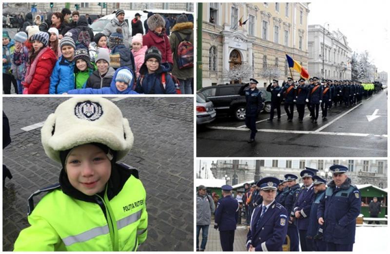 Ziua Poliţiei Române, sărbătorită la Arad, în aplauzele a sute de arădeni