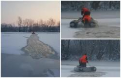 Operaţiune dramatică a pompierilor arădeni, pentru salvarea unui câine