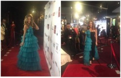 O rochie creeată de arădeanca Felba Mona a făcut furori pe covorul roşu de la gala de decernare a premiilor Oscar!