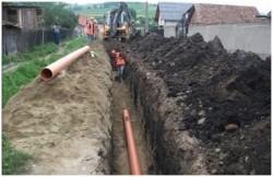 Liber la fonduri europene, pentru lucrările de apă-canal din comuna Hălmagiu
