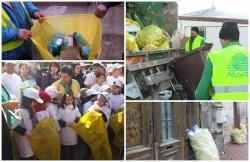 """Şase ani cu  """" sacii galbeni"""". Şase ani de colectare selectivă a deşeurilor în ARAD cu  S.C Polaris M. Holding S.R.L."""