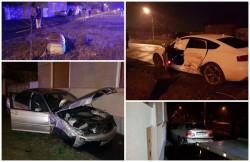 Accident spectaculos pe strada Steagului, în noaptea de marţi spre miercuri! Două persoane au ajuns la spital!
