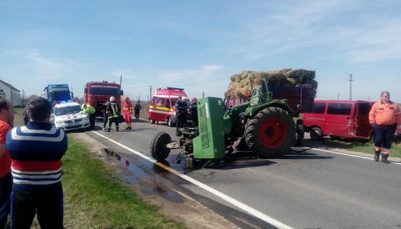 Grav accident de circulație produs marți după-amiaza, pe o șosea din vestul țării