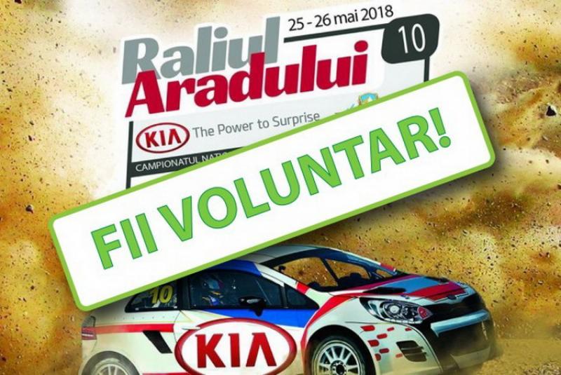 Raliul Aradului KIA 2018  caută voluntari!