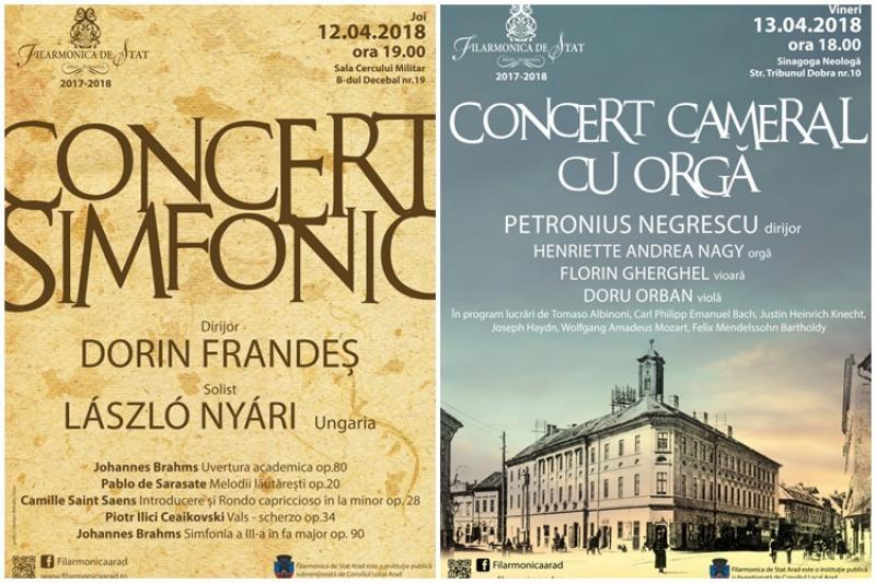 Filarmonica Arad propune arădenilor două concerte de excepţie