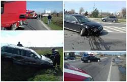 Un autoturism a ajuns în șanț în urma unui accident rutier, produs marți dimineața