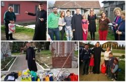 Grădinița Bambi din Arad, împreună cu părintele paroh Bogdan Oneț din Mândruloc au adus bucurie în casele mai multor familii