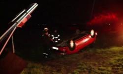 Accident rutier pe un drum din vestul țării