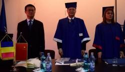 Ambasadorul Republicii Populare Chineze,  Doctor Honoris Causa al UAV