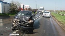 Accident rutier la ieșire din Arad spre Fântânele