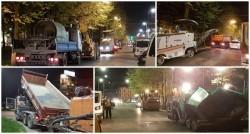 Lucrări de reparaţii a străzilor pe timp de noapte în zona centrală din Arad