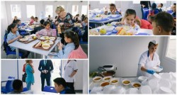 """Elevii şcolii gimnaziale """"Ilarion Felea"""" iau """"Masa caldă"""" în condiţii deosebite"""
