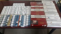 28 de cartușe de țigări netimbrate, ridicate de Jandarmii Arădeni în vederea confiscării