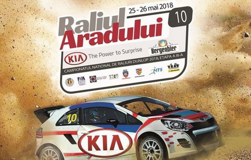 Raliul Aradului KIA îşi aşteaptă concurenţii în perioada 24 – 26 mai la Arad