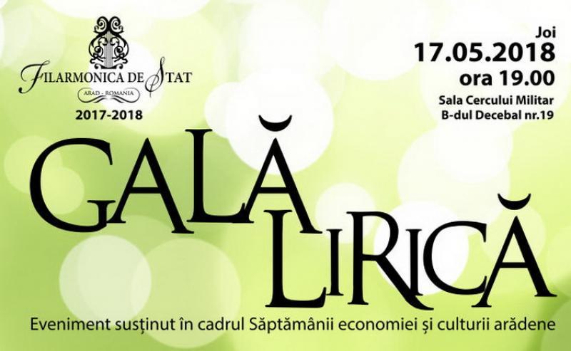 Gala Rirică, un eveniment al Filarmonicii din Arad în cadrul Săptămânii economiei și culturii arădene