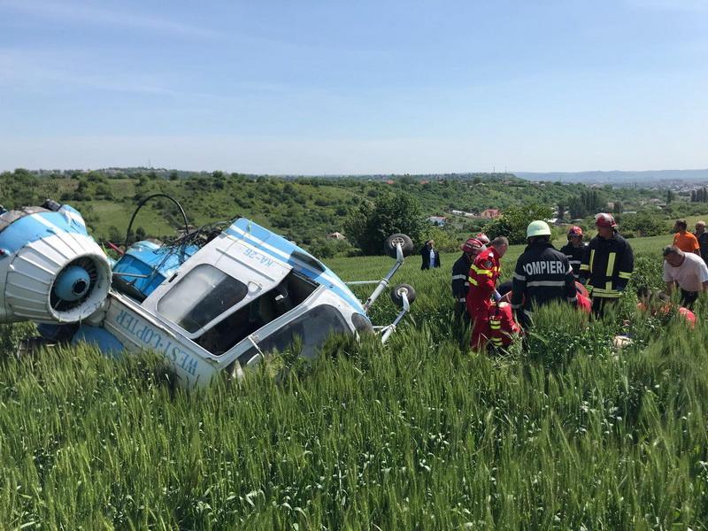 Accident aviatic! Elicopter prăbușit la Turda!