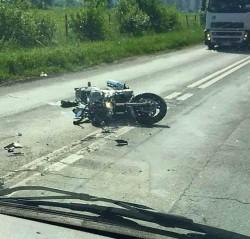 AFLĂ ce a pățit un motociclist, în urma unui accident rutier