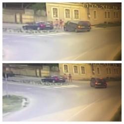 IMAGINI surprinse la Lipova, când doi bărbați sar la bătaie cu tatăl unei fetițe, care le-a atras atenția că nu conduc prudent