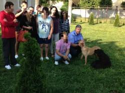Labradorul donat de un jandarm, folosit în terapia copiilor cu dizabilități