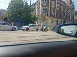Un polițist a accidentat o femeie, chiar pe trecerea de pietoni