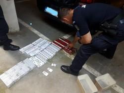 292 pachete cu țigări netimbrate, ridicate în vederea confiscării  de Jandarmii Arădeni