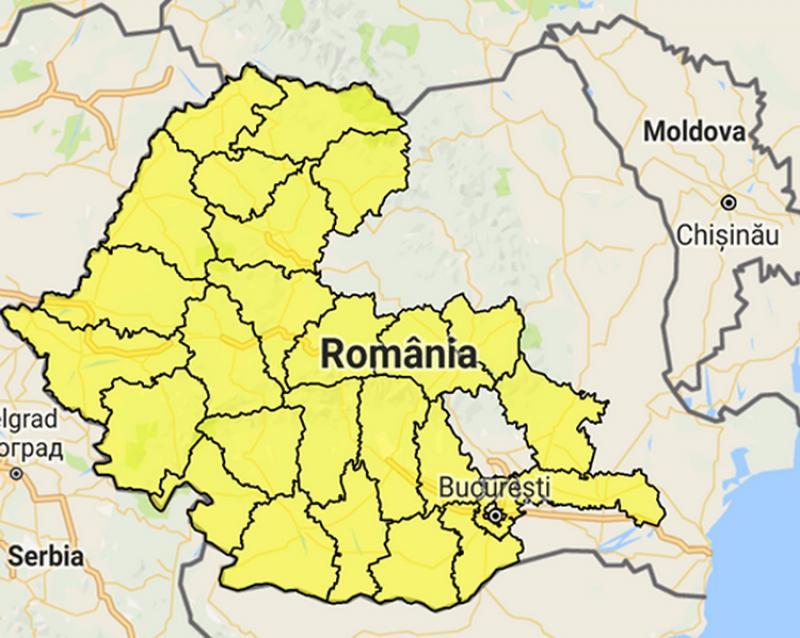 Cod galben de inundații în Arad si 27 de judete