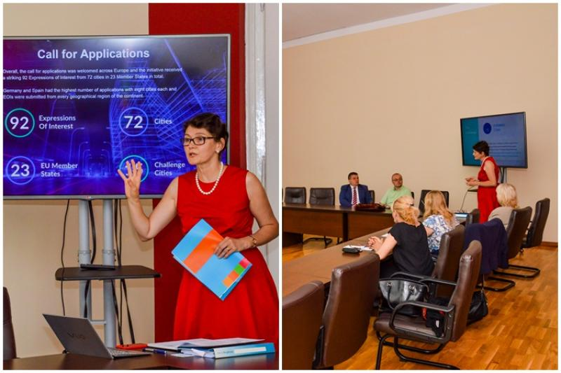 """Vizită de evaluare a Municipiului Arad în cadrul proiectului  """"Digital Cities Challenge"""""""