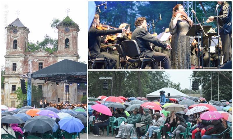 Concertul Rock simfonic din Cetatea Aradului, greu încercat de vremea capricioasă