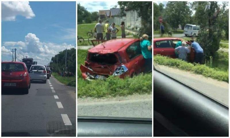 Accident rutier în Mândruloc. Se circulă pe un singur sens