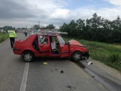 Accident rutier la intrarea în localitatea Zăbrani
