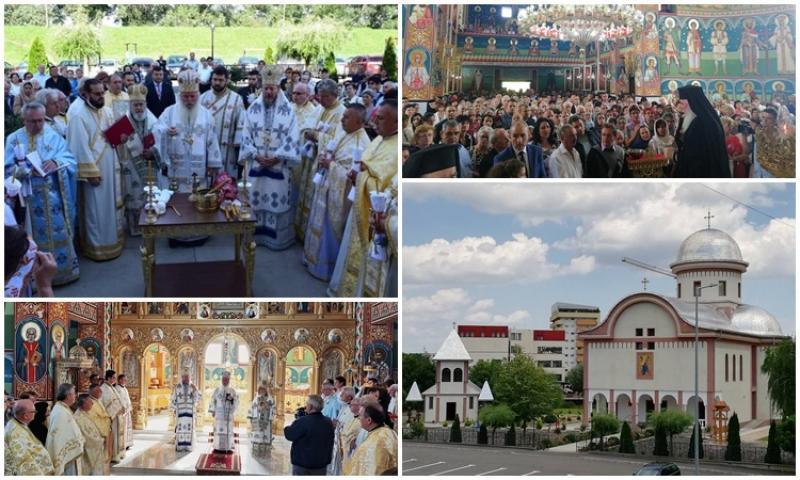 Târnosirea Bisericii din Parohia Arad - Micălaca Zona 300 a fost săvârşită de trei Ierarhi
