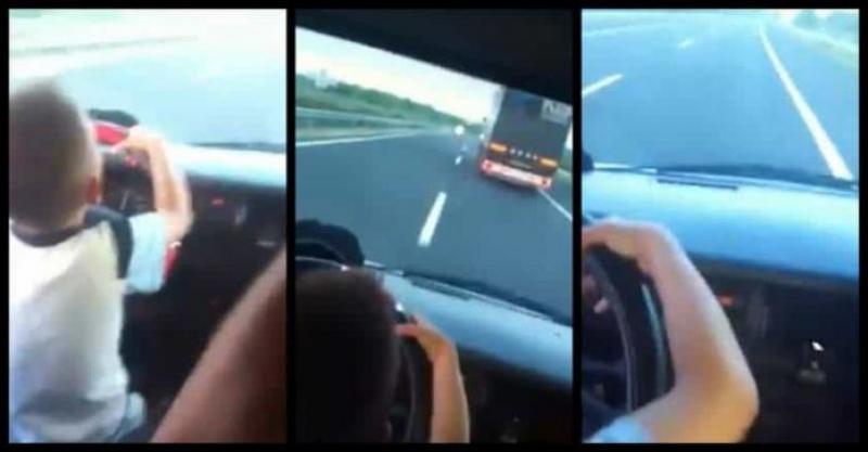 ȘOCANT ! Copil de 7 ani conduce pe Autostradă un autoturism, cu o viteză de 120km/ h și depășește un TIR
