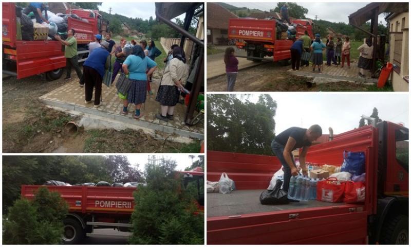 Tone de ajutoare colectate în ultimele două săptămâni pentru persoanele sinistrate din judeţul Arad
