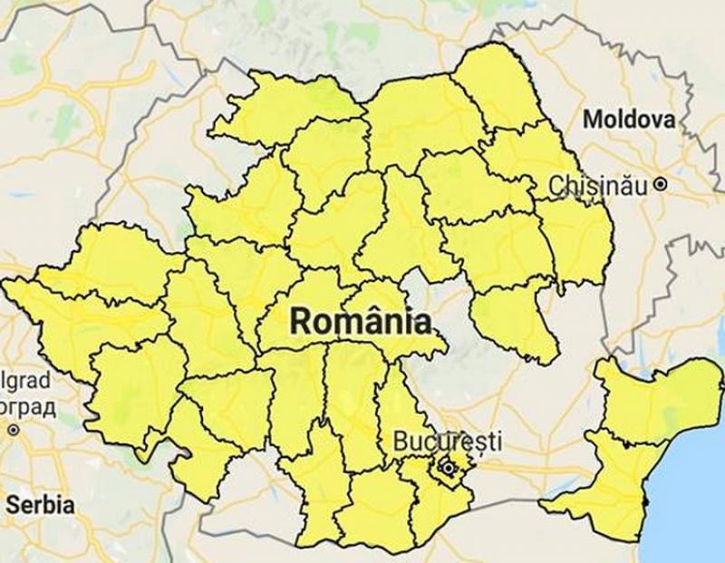 Cod galben de inundații în Arad şi alte 30 de judeţe