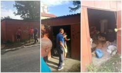 """Garajele de pe Simion Popa care """"s-au încăpăţânat"""" să rămână în picioare au fost demolate de Primărie"""