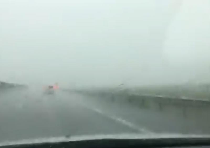 Rupere de nori pe Autostrada Arad-Timişoara