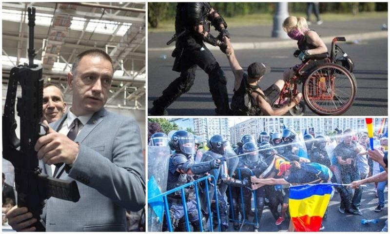 Tupeu de PSD Arad! Deplâng jandarmii răniţi dar îi doare-n cot de zecile de români călcaţi în picioare