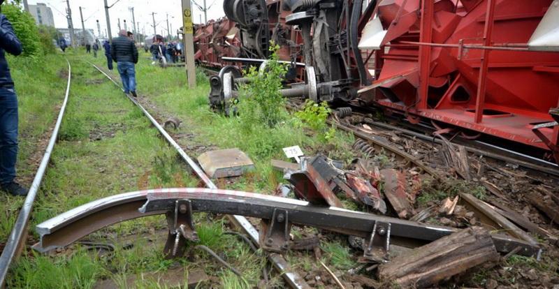 Un tren a deraiat duminică, între Caracal și Craiova
