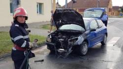 Un autoturism a luat foc în municipiul Arad