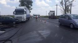 Grav accident rutier pe DN 7 la ieșire din Arad spre Pecica