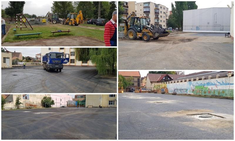Terenuri de sport reabilitate la mai multe şcoli din Arad pentru noul an şcolar